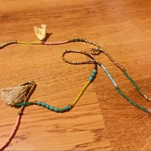 Anthropologie Jewelry - Anthropologie Nakamol Bead Tassel Long Necklace